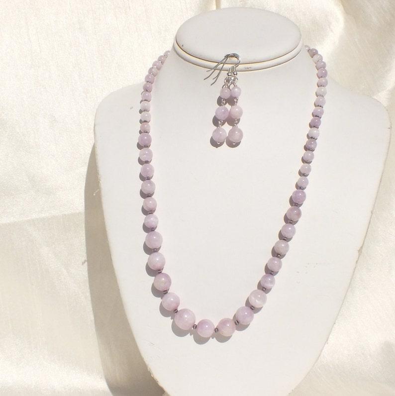 Kunzite necklace