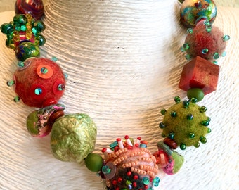 Colorful Big bead necklace