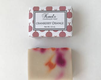 CRANBERRY ORANGE Handmade Soap ~ Limited Edition ~ Cold Process, Vegan