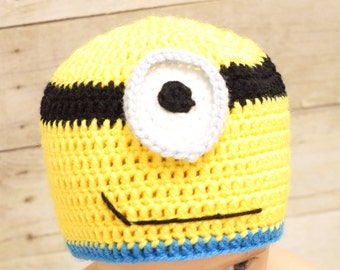 566c5881b5959 Crochet Minion Hat