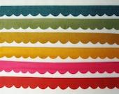 Scallop Wool Blend Felt Trim 12 Die Cut Pieces Choose UR own Colors