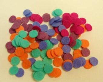 Wool Blend Felt Circle Collection Rainy Day