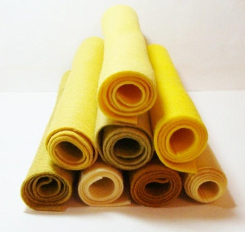 Wool Felt Blend 9x12 OLD GOLD Single Sheet 20/% Merino Wool Blend from Woolhearts