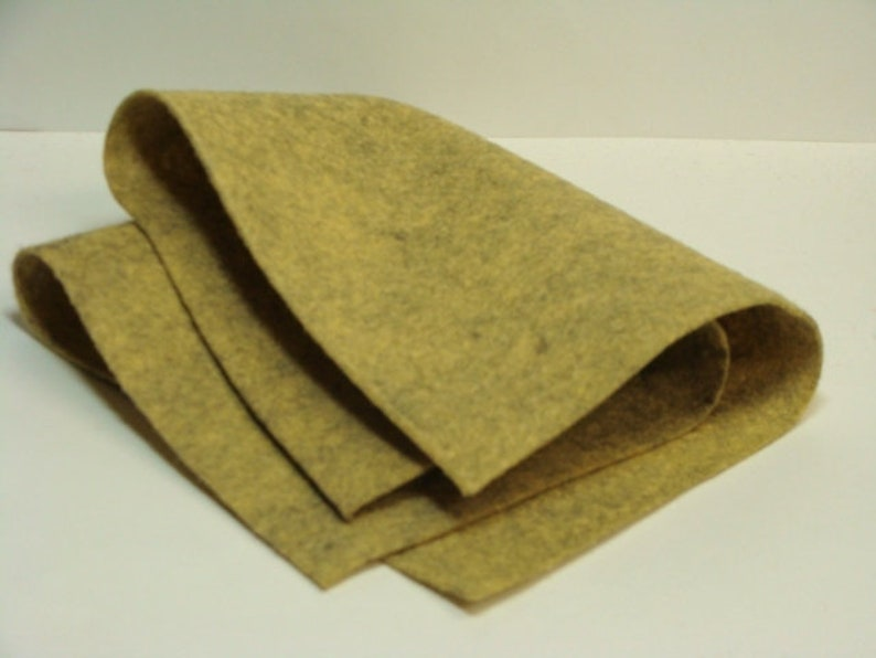 20/% Wool Blend Cobblestone Antique Heathered Tan 36 in x 36 in Sheet Wool Felt Oversized Sheet