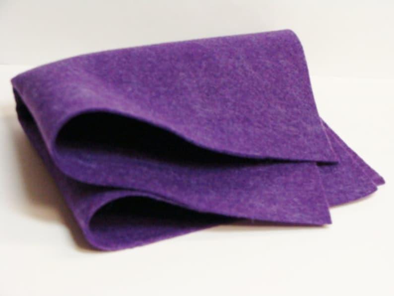 Grape Jelly 35/% Merino Wool Felt Blend Fabric Sheet 9 x 12 from woolhearts