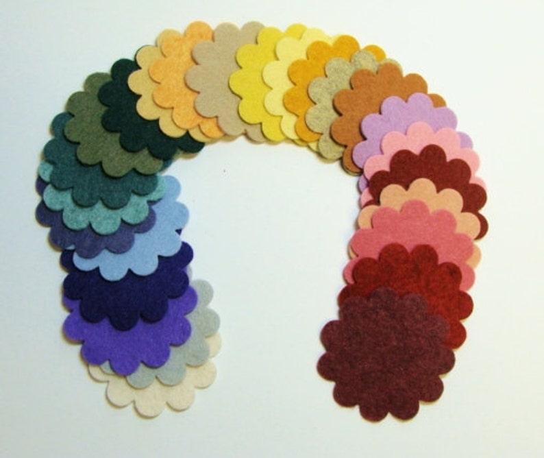 """1/"""" orange felt circles 25 pieces"""