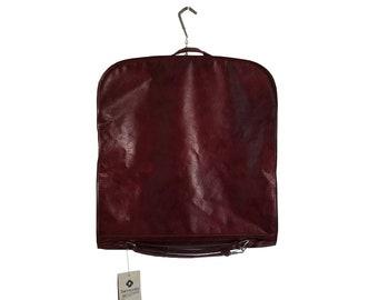 Vintage Samsonite Luggage 1980s The Survivor Travel Garment Bag Wine Color Multiple Pockets Hangers and Shoulder Strap - New Old Stock