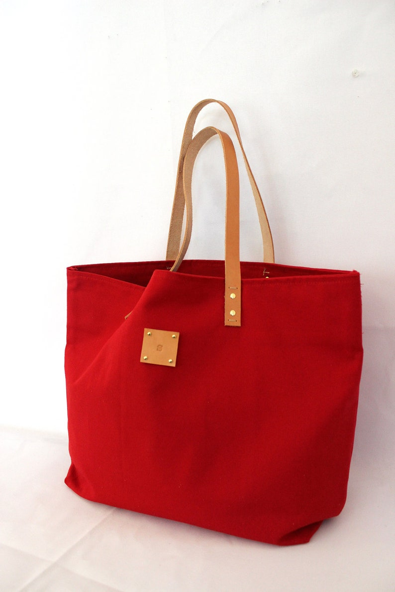Canvas Tote.. SPECIALIZED LABEL...RED tote bag