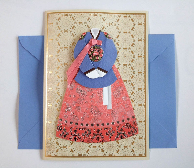 Korean Traditional Handmade Greeting Card Man S Hanbok