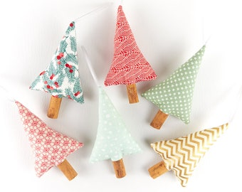 Set of 6 Scented Christmas Ornaments Natural Christmas Decorations Rustic Christmas Decor Modern Farmhouse Christmas in July Party Favour