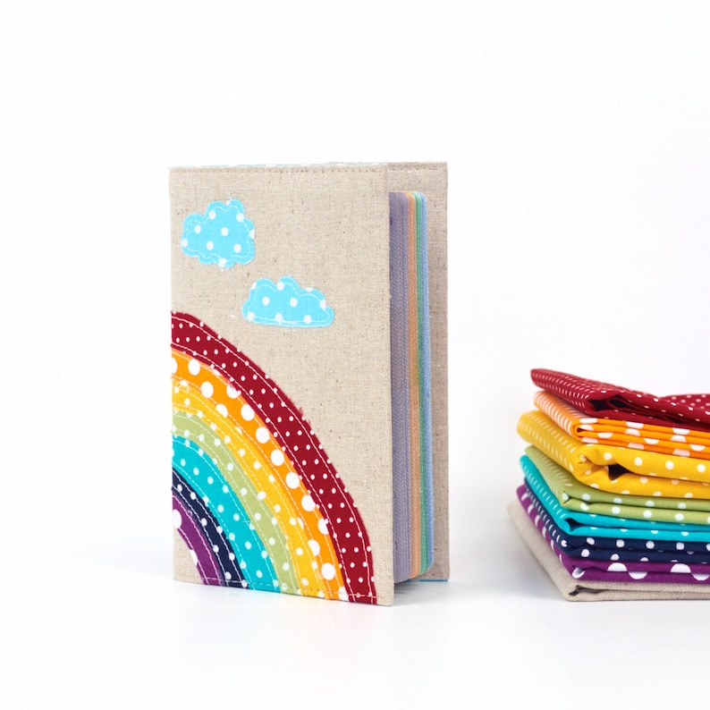 Over the Rainbow Cute Kids Passport Cover Colourful Baby image 0