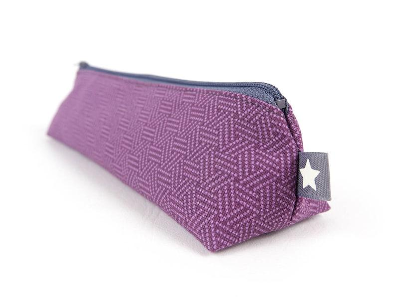 Purple Modern Geometric Pencil Case Small Art Gift Simple image 0