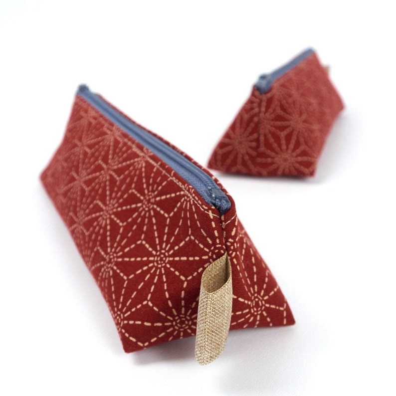 Small Pencil Case in Japanese Style Fabric Accessory Storage image 0