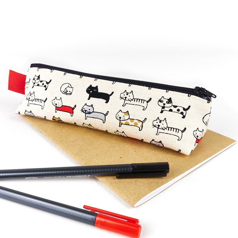 Little Cats Pencil Case Cute Accessory Storage Cat Lover image 0
