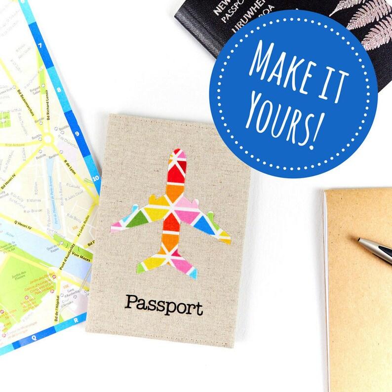 Customisable Airplane Passport Sleeve Cute Kids Passport image 0