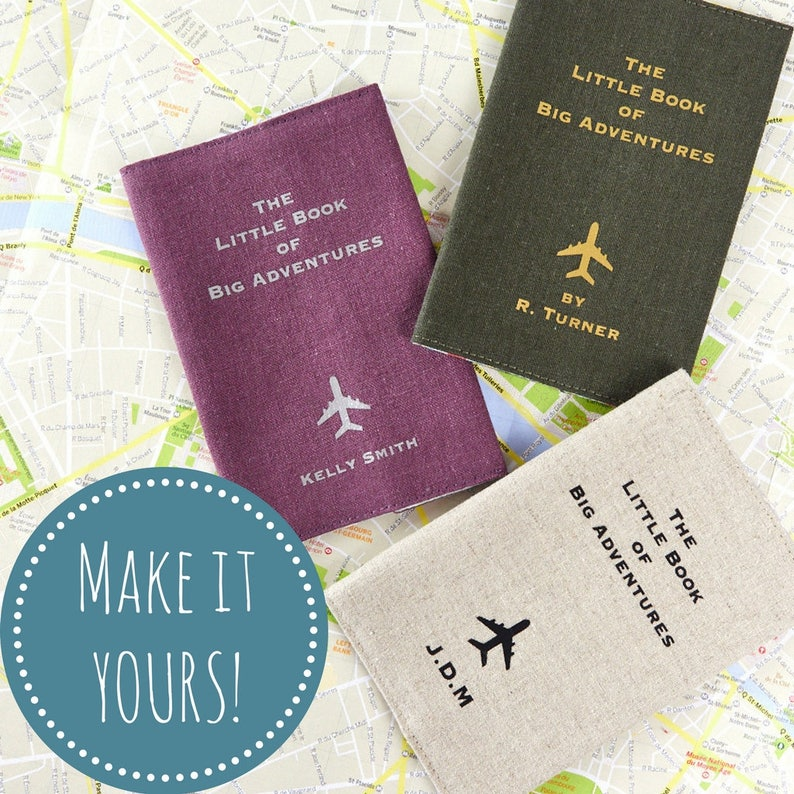 Personalised Passport Holder The Little Book of Big Adventures image 0
