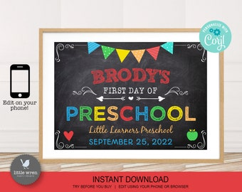 Back to school poster, INSTANT DOWNLOAD, First day of school, kindergarten, grade, chalkboard, prep, preschool, School milestone board
