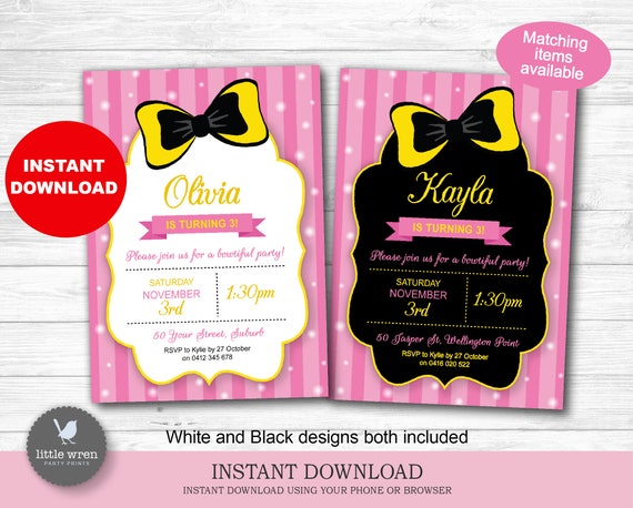 Personalised WIGGLES EMMA WIGGLE Party Invites Invitations DIGITAL YOU PRINT