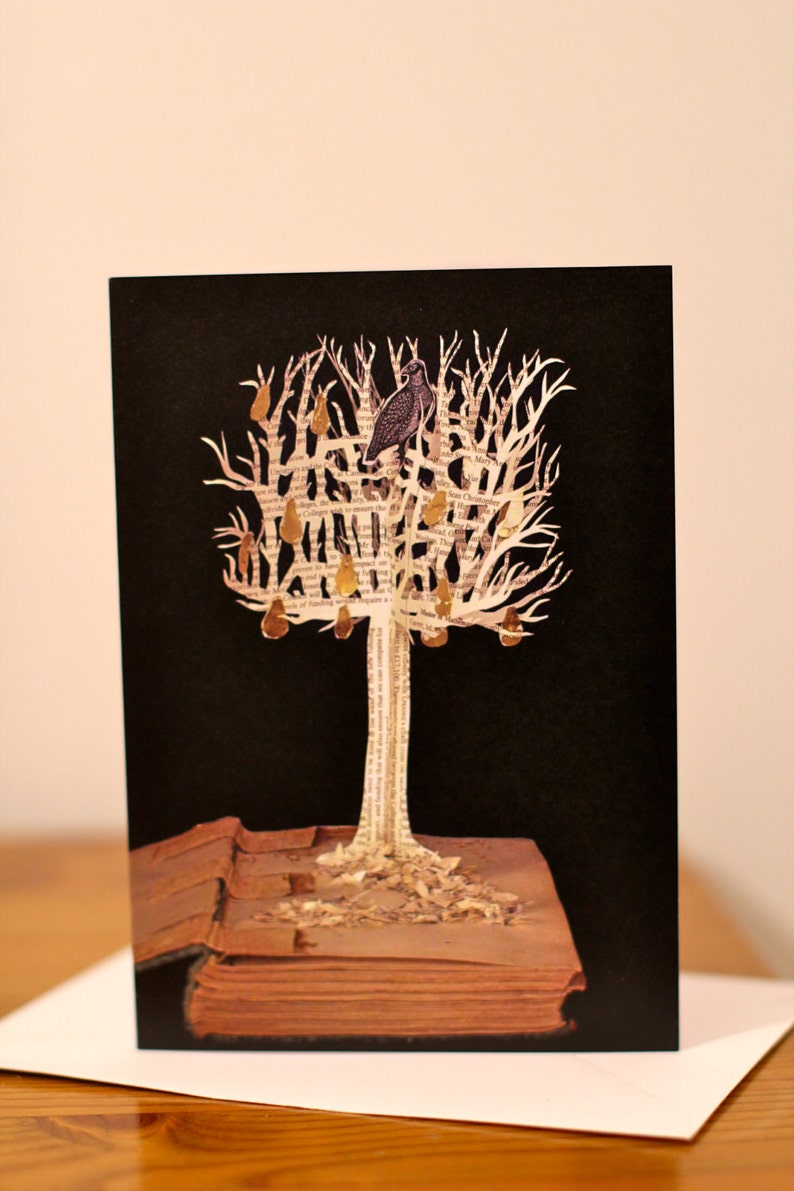 Partridge in a Pear Tree greeting card 12 days of Christmas   Etsy