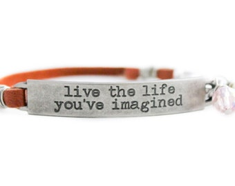 New Adventure Gift, Career Counselor, Recruiter Gift, Inspirational Quote, Inspiration Bracelet, Daily Mantra Bracelet, Encouragement Gift