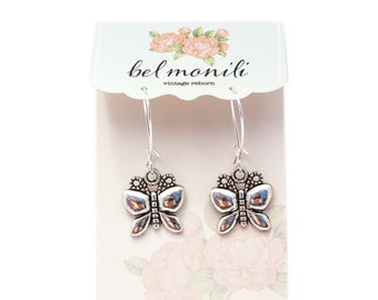 Butterfly Earrings, Insect Earrings, Sorority Sister Gift, Insect Jewelry,Butterfly Jewelry,Survivor Gift,Nature Earrings,Spiritual Earrings