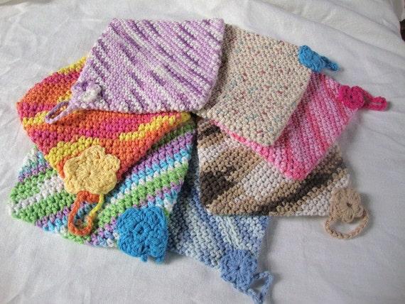 Handmade cotton double sided crochet potholder or washcloth in   Etsy