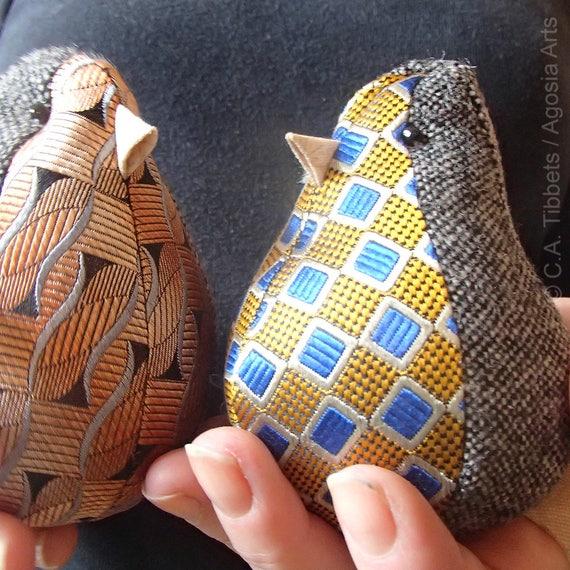 Set Aus Drei Kleinen Stoff Vogel Winzigen Vogel Puppen Etsy