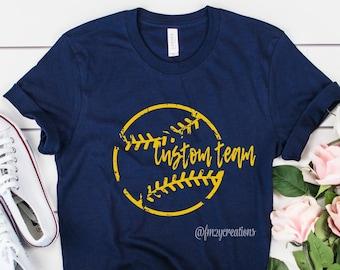 CUSTOM Baseball shirt | Baseball Tee | Baseball Game Shirt | Baseball shirts for Women | Bulldogs Baseball Shirt | Softball Shirt