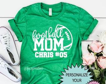 Football Mom shirt | Custom Football shirt | Personalized Football Mom Game Day Shirt | Football shirts for Women Personalized Football Tee