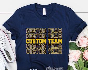 CUSTOM Team Football shirt | Basketball Shirt | Baseball Shirt | Football Game Shirt | Womens Football shirts | Bulldogs Shirt Repeat Shirt