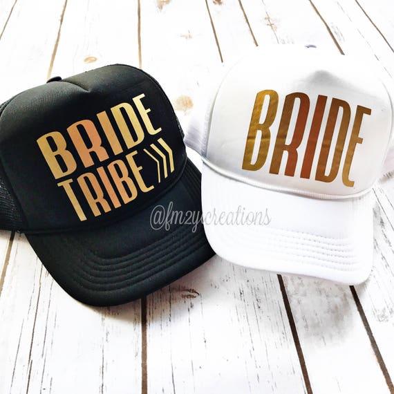 e352f3703a8 Bachelorette TRUCKER Hats BRIDE TRIBE Trucker Hat Trucker