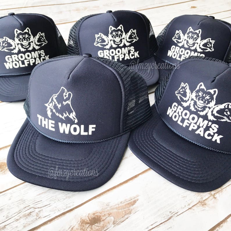 190b3ebb3c2 Bachelor Party Hats Groomsman Hat Wolfpack Hat Bachelor