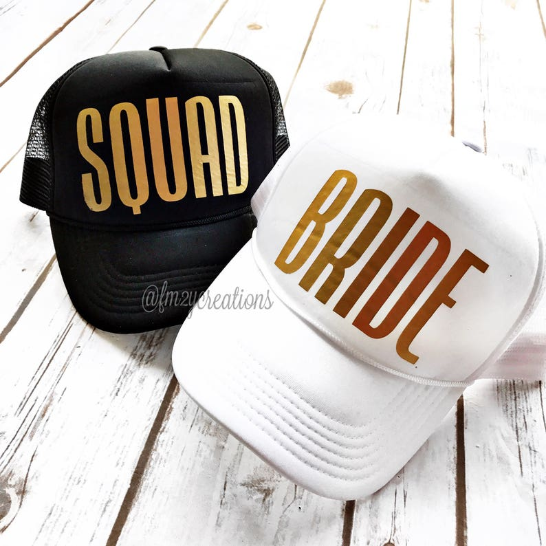 bb3a7a26643 Bride or Squad Trucker Hat Bride SQUAD Trucker Hat