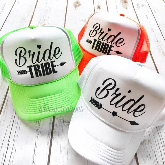 dff513544bf Bride Tribe Trucker Hat Bride Tribe Neon Trucker Hat