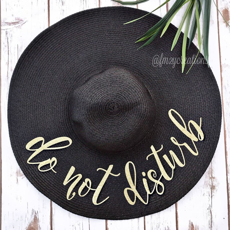 Do Not Disturb Hat  Do not Disturb Floppy Hat  Personalized image 0