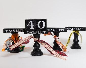 Countdown Blocks   Tiered Tray Countdown   Days Until Christmas Blocks   Shelf Sitter Countdown Blocks   Farmhouse Christmas