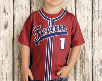 Personalized Baseball Jersey T-Shirt, Baseball Birthday Shirt - Any Color - Any Name