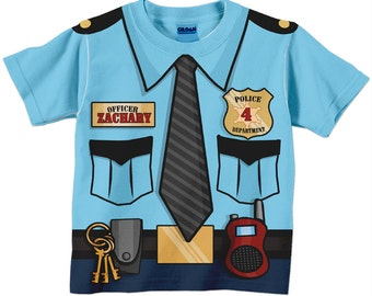Police Officer Shirt, Personalized Boys Policeman Birthday T-Shirt, Birthday Shirt, Police Birthday Shirt, Police Costume
