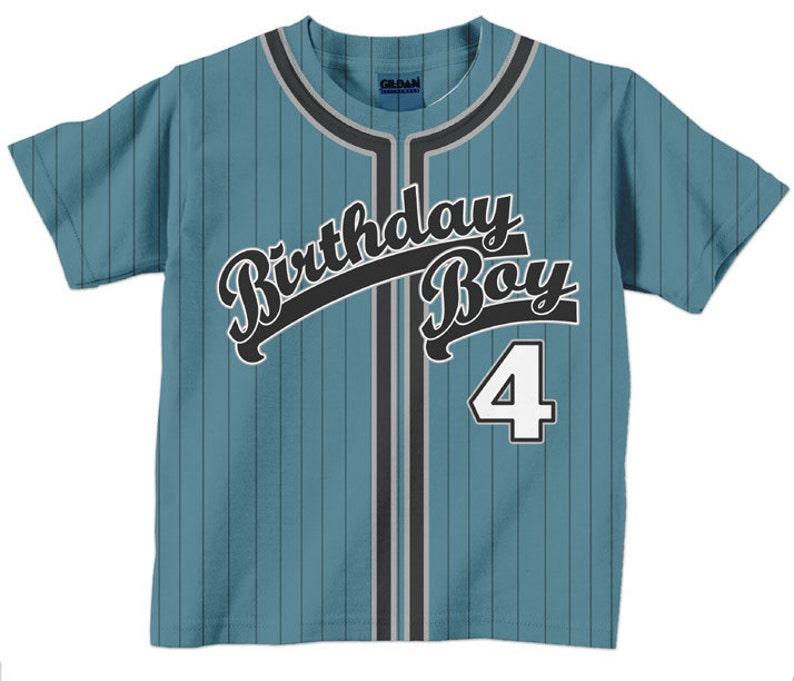 Birthday Boy Shirt  Personalized Baseball Jersey T-Shirt  image 0