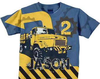 Construction Birthday Shirt, Personalized Dump Truck Birthday Shirt, Boys Dump Truck T-Shirt, Birthday Shirt, Dump Truck Shirt