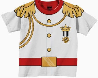 Prince Charming Shirt, Personalized White Prince Charming Birthday T-Shirt, Boys Formal Prince Shirt