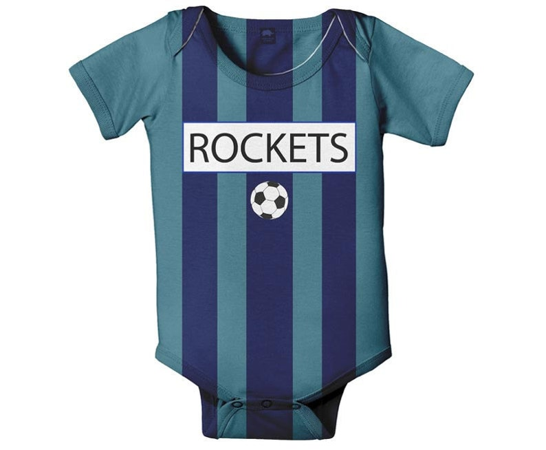 Baby Soccer Jersey Bodysuit Personalized Sport One Piece Any  a4ded5805