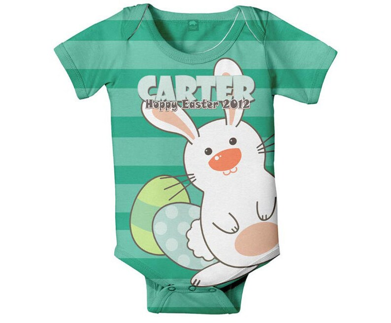 Infant Easter Bunny Snap-Shirt Romper Baby Boy 1st Easter Oufit First Easter Baby Romper Personalized Boy/'s Easter Shirt