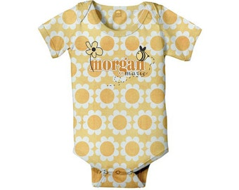 Personalized Baby Bodysuit, Doodle Bee Custom One-Piece
