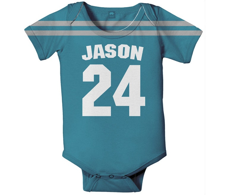 f30d005b222 Baby Football Jersey One Piece Personalized Jersey Style | Etsy