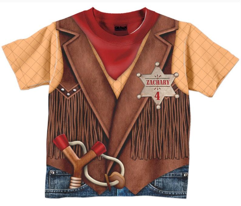 Cowboy Shirt Personalized Childrens Western Birthday T-Shirt image 0