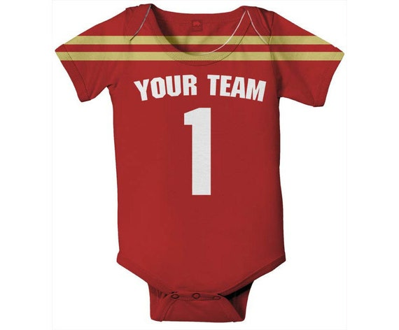 Baby Football Bodysuit Personalized Jersey Style One-Piece  facf9f3da
