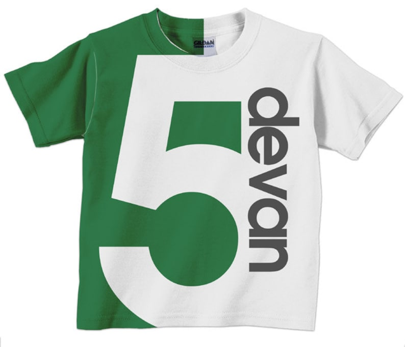Boys Birthday Shirt Personalized Childrens Number
