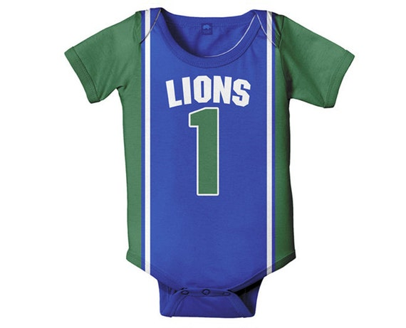 on sale f96ed 853ac Personalized Basketball Jersey Bodysuit, Baby Boy Jersey, Custom One Piece,  Onepiece, Any Team Clothing