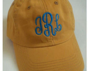 0daad31664b Monogram Baseball Cap Beach Hat Custom Embroidery Monogram Gift Under 30  Dollars pigment dyed